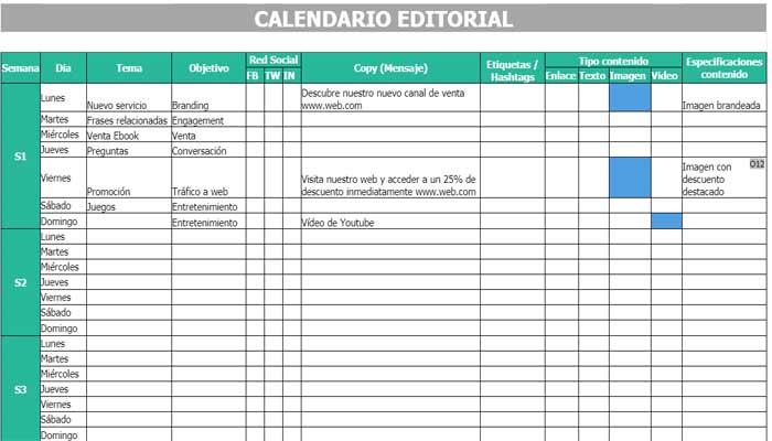 Calendario para redes sociales vilma nuñez